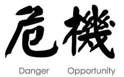 Crisis - danger and opportunity